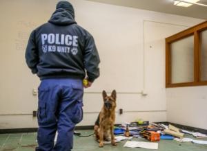 MSU K9 Police Officer and Dog